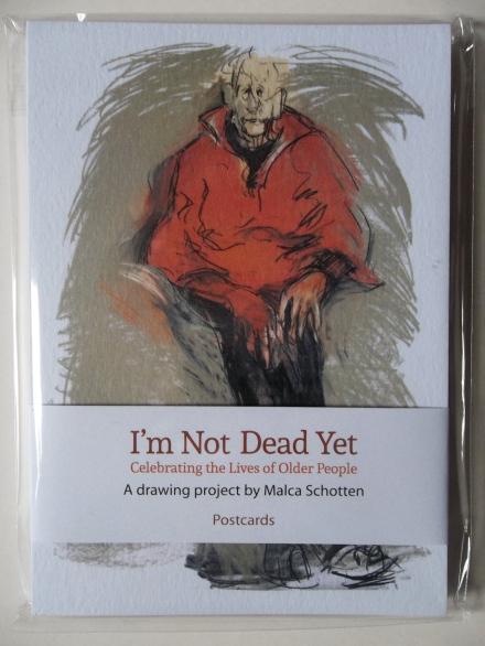 I'M NOT DEAD YET postcard pack